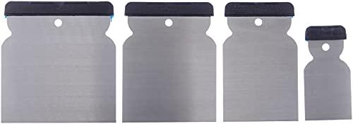 Werkzeyt Japanspachtel-Satz 4-teilig-50 mm, 80 mm, 100 mm und 120 mm-Blatt aus Federbandstahl-Säurefest und Flexibel-Zum Verfüllen und Glätten / Spachtel Made in...