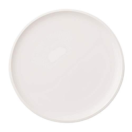 Villeroy und Boch - Artesano Original Pizzateller, 32 cm, Teller mit erhöhtem Rand, Premium Porzellan, spülmaschinen-, mikrowellengeeignet, weiß