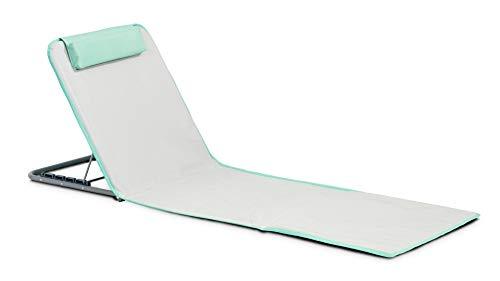 INNOV'AXE Clic-Clac Strandmatte, klappbarer Liegestuhl, Uni, 102450, Vert (Vert Lime), 134 x 48 x 40