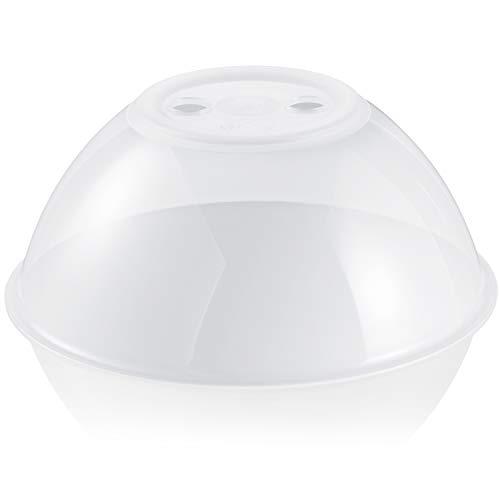 Hausfelder Mikrowellenhaube XL-Abdeckung Spülmaschinengeeignet und BPA-frei | ideal als hohe Mikrowellen Abdeckhaube, Spritzschutz Deckel, Teller Haube für die...