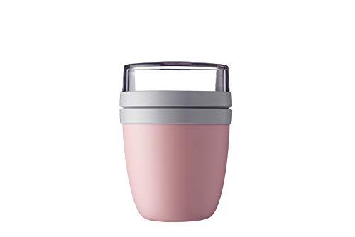 Mepal Lunchpot Ellipse Nordic pink – 500 ml praktischer Müslibecher, Joghurtbecher, to go Becher – Geeignet für Tiefkühler, Mikrowelle und Spülmaschine,...