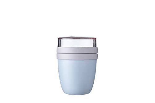 Mepal Lunchpot Ellipse Mini-Nordic Blue – 300 ml praktischer Müslibecher, Joghurtbecher, to go Becher – Geeignet für Tiefkühler, Mikrowelle und Spülmaschine,...