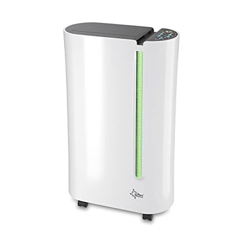 SUNTEC Dryfix 20 Lumio Luftentfeuchter – für Räume bis 150 M³ (ca 65 m2) | Raumentfeuchter mit 20 l/Tag Entfeuchtung | Entfeuchter elektrisch inkl. Luftreiniger...