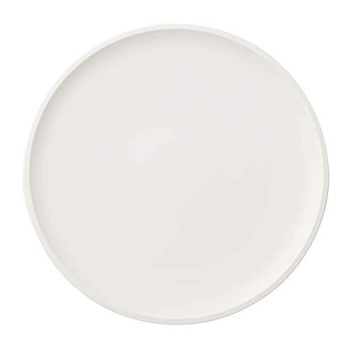 Villeroy & Boch Artesano Original Pizzateller, großer Teller mit erhöhtem Rand aus Premium Porzellan in weiß, spülmaschinenfest, 32 cm