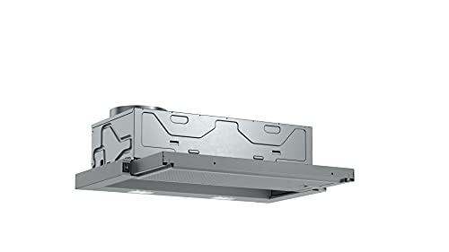 Bosch DFL064W53 Serie 2 Flachschirmhaube / B / 60 cm / Silbermetallic / wahlweise Umluft- oder Abluftbetrieb / Wippenschalter / 3 Leistungsstufen / Metallfettfilter...