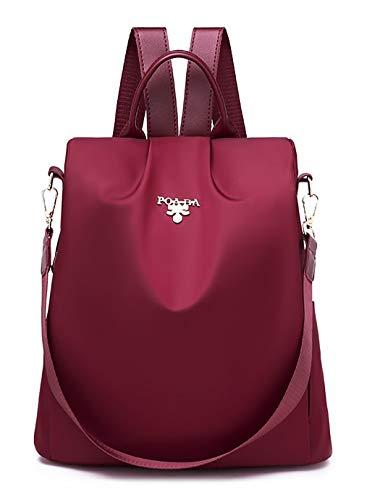 SPEEDEVE Damen Rucksack Anti Diebstahl Tasche,Rot