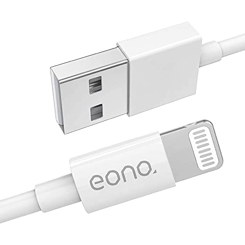 Amazon Brand – Eono iPhone Ladekabel Lightning Kabel [Apple MFi Zertifiziert] Schnell USB iPhone Kabel- 1m Weiß