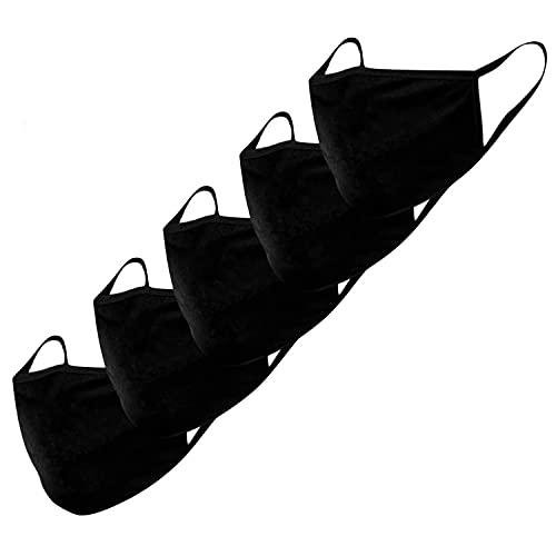 KUNSTIFY Stoffmasken - 5er Set - Baumwolle - Mund-Nasen-Schutz - Behelfsmasken - waschbar - unisex - nachhaltig, da wiederverwendbar