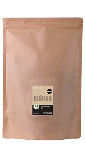 Wohltuer Bio Quinoa weiß 2000g | Glutenfrei, Cholesterinfrei, Nährstoffreich | Vegetarisch und Vegan | vielseitiges Lebensmittel in geprüfter Bio-Qualität...