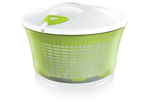 Leifheit Salatschleuder ComfortLine-Serie mit Rechts-/links-Drehmechanismus im Deckel, Salattrockner inklusive Salatschüssel und Sieb, trocknet den Salat effektiv...