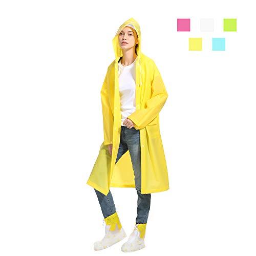 HanDingSM Regenponcho Regenbekleidung Regenmantel mit Kapuze Wiederverwendbar Wasserdicht Tragbarer Transparent Atmungsaktiv Regencape für...