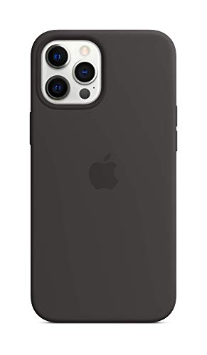 Apple SilikonCase mit MagSafe (für iPhone 12 Pro Max) - Schwarz - 6.7 Zoll