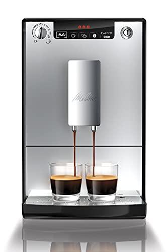 Melitta Caffeo Solo E950-103 Schlanker Kaffeevollautomat mit Vorbrühfunktion | 15 Bar | LED-Display | höhenverstellbarer Kaffeeauslauf | Herausnehmbare Brühgruppe...