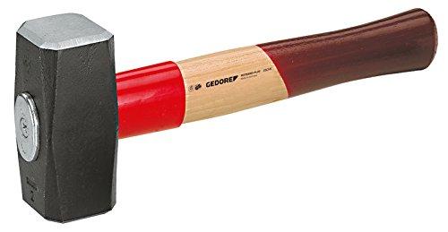 GEDORE Fäustel mit Holzgriff, 1500 g Kopfgewicht, Hammer mit Eschenstiel, Werkzeug, geschmiedet, Rotband-Plus, 620 E-1500
