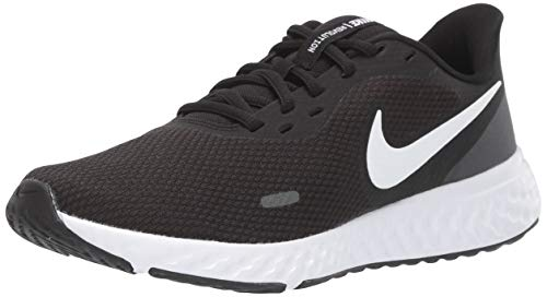 Nike Womens Revolution 5 Running Shoe, Black / White-Anthracite, 38.5 EU