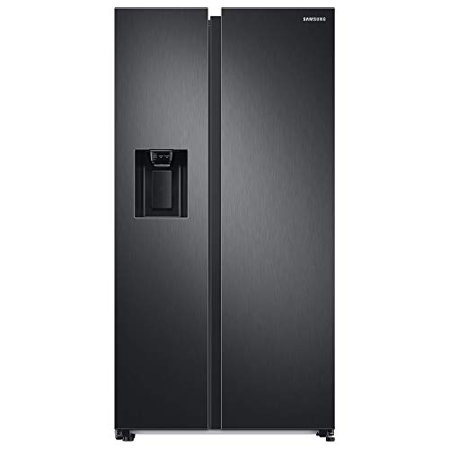 Samsung RS6GA8521B1/EG Side-by-Side Kühlschrank mit SpaceMaxTechnologie, 409 LiterKühlschrank, 225 Liter Gefriervolumen, 351 kWh/Jahr, Premium Black Steel