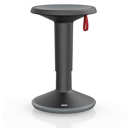 Interstuhl UPis1 - ergonomischer Sitzhocker mit Schwingeffekt – Premium Hocker höhenverstellbar und drehbar Made in Germany – Stehhocker/Drehhocker inkl. 10...