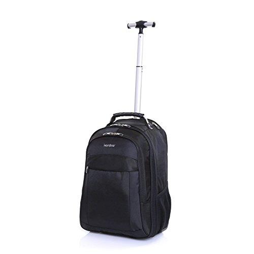 Karabar Laptop Handgepäck Rucksack Trolley Laptoptasche Laptopfach Rollkoffer mit Rollen für Notebooks von bis zu 16 Zoll Business Tasche 55 cm 35 Liter 1,95 kg,...