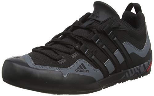 adidas Originals Unisex Adult Adidas Terrex Swift Solo D67031 Outdoor Fitness Shoes, Black (Black / Black / Lead), 44 EU