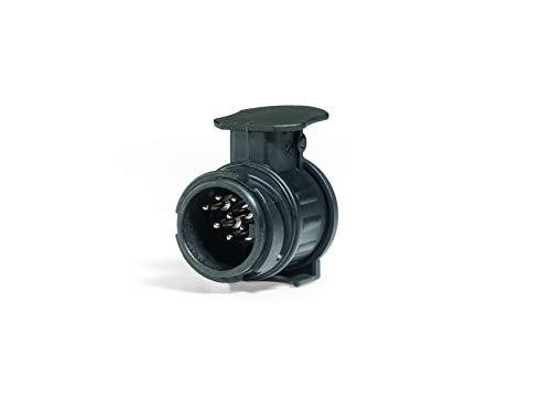Westfalia Adapter 13- auf 7-polig - Für die Verbindung von PKW bzw. Anhängerkupplung mit 13-poliger Steckdose auf Anhänger mit 7-poligem Stecker