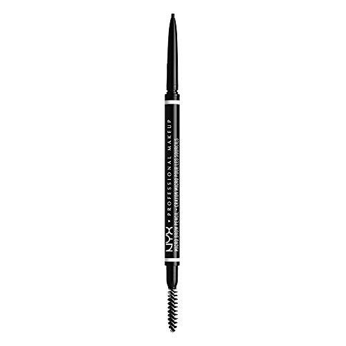 NYX Professional Makeup Micro Brow Pencil, Beidseitig mit ausdrehbarem Augenbrauenstift und Bürstchen, Vegane Formel, Farbton: Black