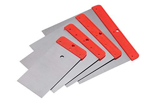 Connex Japanspachtel-Satz 4-teilig-50 mm, 80 mm, 100 mm und 120 mm-Blatt aus Federbandstahl-Säurefest und Flexibel-Zum Verfüllen und Glätten / Spachtel Made in...