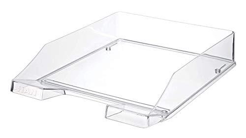 HAN Briefablage KLASSIK TRANSPARENT – 6 STÜCK, transparente und stapelbare Ablage im frischem Design bis Format A4/C4, transparent-glasklar, 1026-X-23