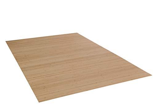 DE-COmmerce Bambusteppich Massive Pure, 170x240 cm, 17mm gehärtete Stege   die Neue Generation Bambusteppich   kein Bordürenteppich   Teppich   Wohnzimmer   Küche...