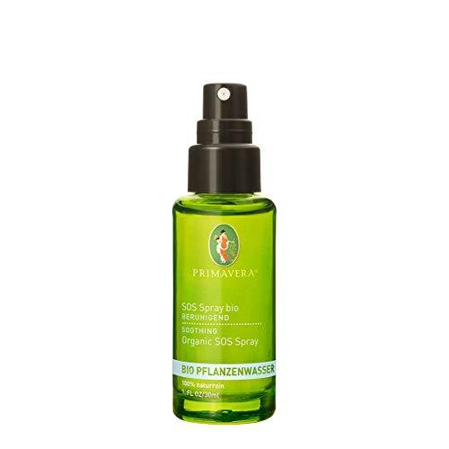 PRIMAVERA Pflanzenwasser SOS Spray bio 30ml - Körperspray, Aromatherapie, Hitzespray - stimmungshebend, beruhigend - vegan