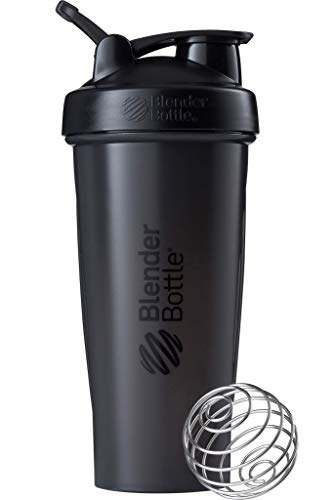 BlenderBottle Classic Loop Shaker with BlenderBall, ideally suited as protein shaker, protein shaker, water bottle, drinking bottle, BPA free, scaled up to 600 ml, ...