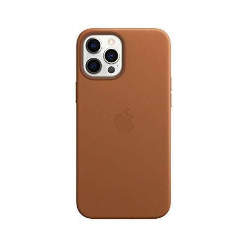 Apple Leder Case mit MagSafe (für iPhone 12 Pro Max) - Sattelbraun - 6.7 Zoll