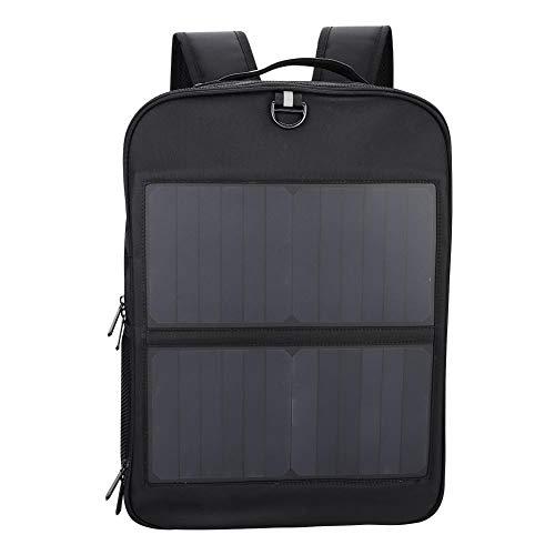 Dioche Solar Rucksack, 14W Laptop Tablet Anti-Diebstahl-Rucksack Solar USB-Ladeanschluss Business Bag multifunktionale Reiserucksack Männer Frauen
