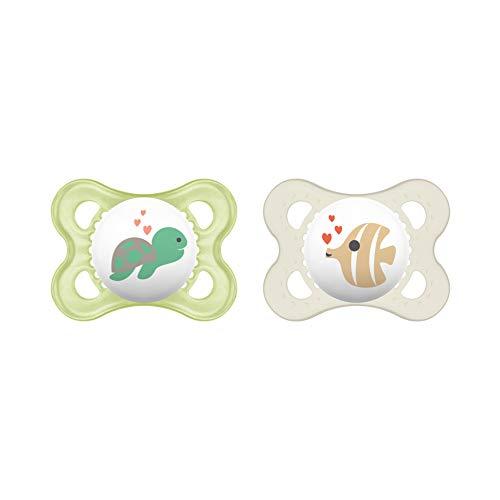 MAM Original Silikon Schnuller im 2er-Set, zahnfreundlicher Schnuller, Baby Schnuller aus speziellem MAM SkinSoft Silikon mit Schnullerbox, 0-6 Monate,...