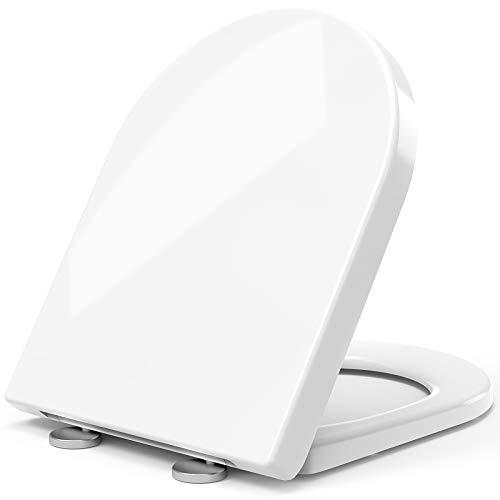 STOREMIC Klodeckel, WC Sitz mit absenkautomatik, Quick Release Funktion, oben und unten einfach befestingung, Antibakteriell Toilettendeckell aus Duroplast mit...