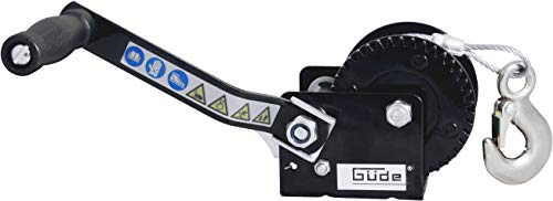 Güde 55125 Seilwinde 360 KG 10 M (Lasthaken mit Tropfenöffnung, Sperrhebel, Handkurbel mit Softgriff)