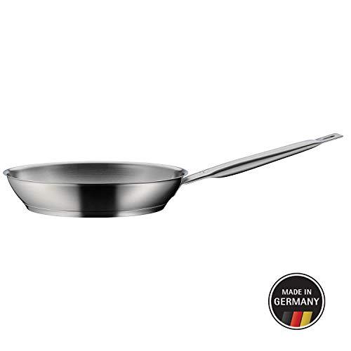 WMF Gourmet Plus Bratpfanne 28 cm, Pfanne unbeschichtet, Cromargan Edelstahl mattiert, induktionsgeeignet