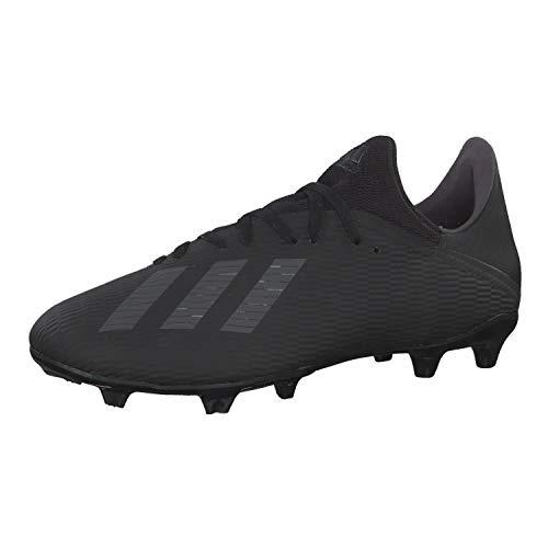 adidas Men's X 19.3 Fg Soccer Shoes, Black (Core Black / Utility Black / Silver Met. Core Black / Utility Black / Silver Met.), 44 EU