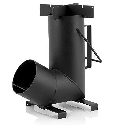 BBQ-Toro Raketenofen Rakete #6, Rocket Stove aus 1,5-mm-dickem Stahl für Dutch Oven, Grillpfannen und vieles mehr