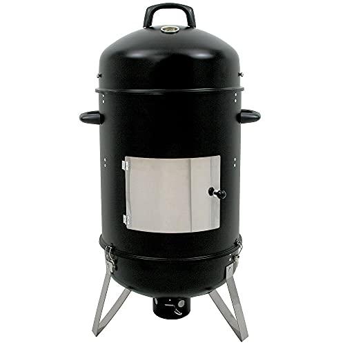 BBQ-Toro Räuchertonne Hickory Ø 46 cm   Grilltonne, Räucherofen Holz, Smokertonne, 4in1 Grillfass, Räuchergrill, Watersmoker   Smoker Grill, Holzkohlegrill mit...
