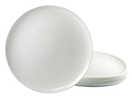 Arcoroc ARC L2810 Solutions Uni Pizzateller, 32 cm, Opalglas, weiß, 6 Stück