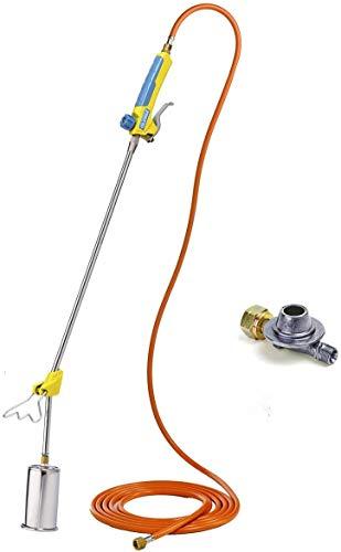 GLORIA Thermoflamm BIO Professional PLUS SET - Gas Abflammgerät | Leistungsstark & langlebig | für große Flächen | Druckgasflaschen-Anschluss | Unkrautbrenner...
