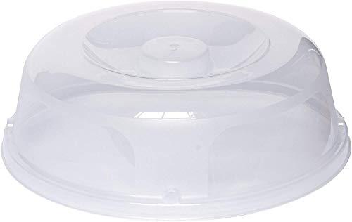 Kurvikkaampi mikroaaltopeite läpinäkyvällä, muovisella, kirkkaalla, 27 x 25 x 9 cm