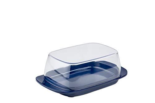 Mepal Butterdose Blue – für 250 g Butter – transparenter Deckel – passt genau in die Kühlschranktüre – spülmaschinenfest, Melamine/SAN, Ocean blau, 17 x...