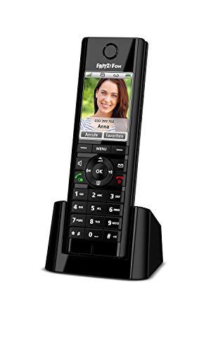 AVM FRITZ!Fon C5 DECT-Komforttelefon (hochwertiges Farbdisplay, HD-Telefonie, Internet-/Komfortdienste, Steuerung FRITZ!Box-Funktionen) schwarz, deutschsprachige...