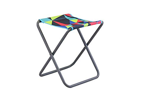 Portal unisex - adult Beat Electro camping stool max 100 kg light folding stool fishing chair festival stool, multicolored, 1 person