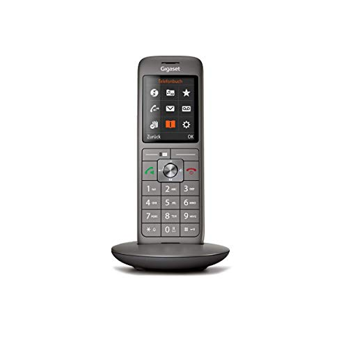 Gigaset CL660 schnurloses Telefon ohne Anrufbeantworter, DECT Telefon, Design Telefon, ein Mobilteil mit TFT-Farbdisplay, groes Adressbuch, anthrazit-metallic