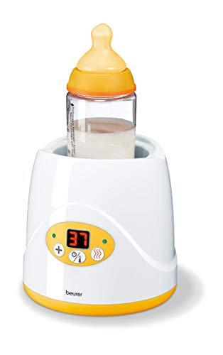 Beurer BY 52 Babykost- und Fläschchenwärmer, zum Erwärmen und Warmhalten von Babynahrung, 8 Minuten Aufwärmzeit, digitale Temperaturanzeige, passend für alle...