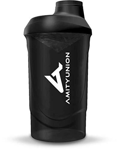 Eiweiß Shaker 800 ml mit Sieb - ORIGINAL Fitness Mixer - Protein Shaker auslaufsicher - BPA frei, Mit Skala für cremige Whey Proteinpulver Shakes, Protein Isolat...