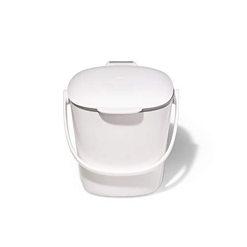 OXO Good Grip, White, 2,83 L OXO Good Grips Leicht zu reinigender Komposteimer– Weiß– 2,83L