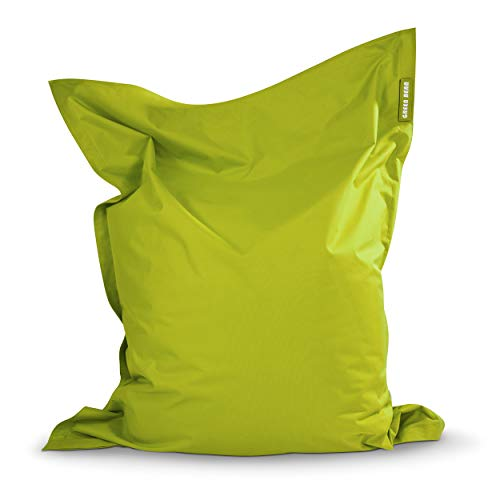Green Bean © Square XXL Riesensitzsack 140x180 cm - 380L - Indoor Outdoor - waschbar, ergonomisch, doppelt vernäht - Lounge Chair, Kindersessel, Bodensitzkissen,...
